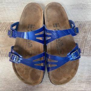 BIRKENSTOCK BIRKI'S Blue Moorea Vegan Sandals, 39